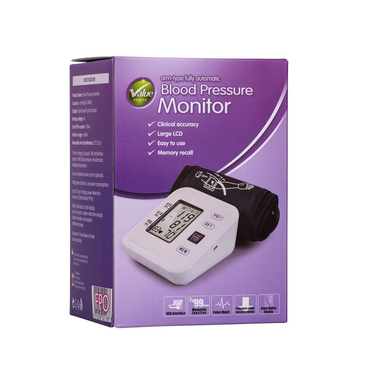 Value Health Blood Pressure Monitor