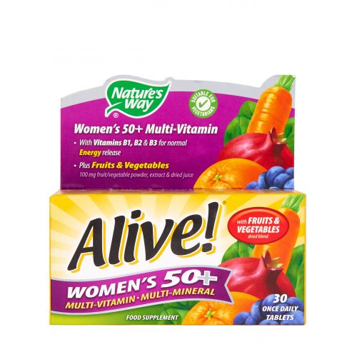 Nature's Way Alive! Women's 50+ Multi-Vitamin Tablets
