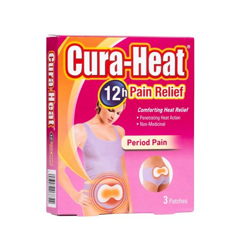 Cura-Heat Period Pain - 3 Patches